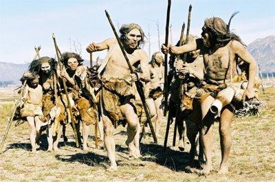 cro-Magnonmens als wilde barbaar