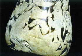 Inca grafsteen is dit een diplodocus?