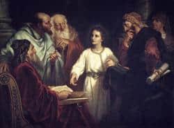 Jezus in gesprek met de geleerden